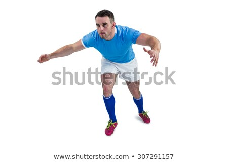 Rugby player ready to tackable Stock photo © wavebreak_media