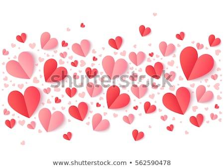 Absztrakt összehajtva papír szív alak izolált fehér Stock fotó © lenapix