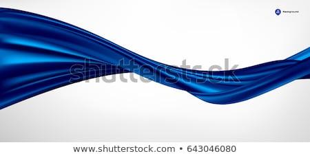青 シルク 波 抽象的な 壁紙 パターン ストックフォト © zven0