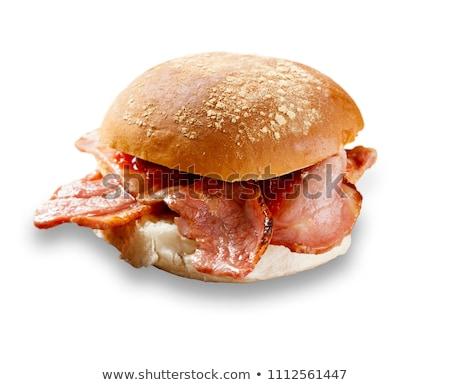 Pane croccante pancetta colazione Foto d'archivio © Digifoodstock