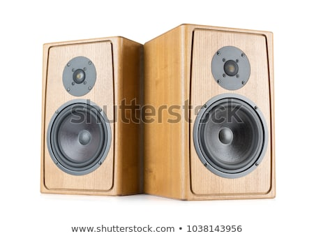 two speaker on white background Stock photo © shutswis