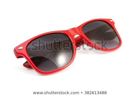 Rood zonnebril geïsoleerd witte licht glas Stockfoto © Elnur
