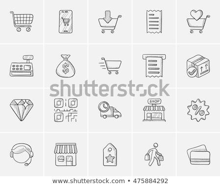 Diamond sketch icon. Stock photo © RAStudio