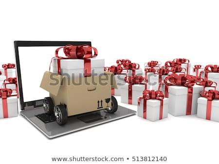 Wheels Opened Packet Gift Carton Ribbon Stock photo © limbi007