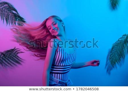 Beautiful Blonde Music Lover Stock photo © fouroaks