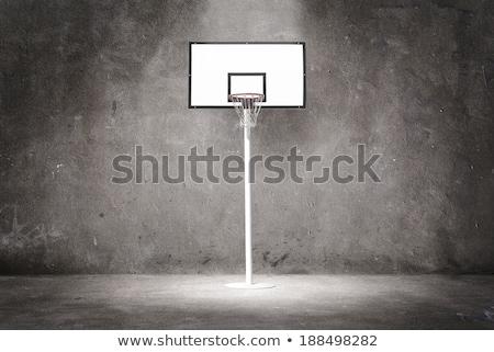 kosárlabda · kék · ég · fehér · felhők · sport - stock fotó © stevanovicigor