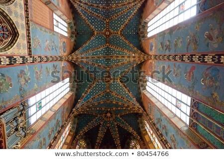 steen · kolommen · gothic · katholiek · Barcelona · kathedraal - stockfoto © frimufilms