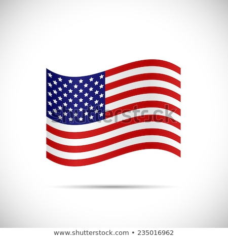 clean 4th of july american banners Stock photo © SArts