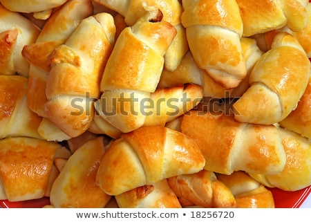 Appetizing rolled batch Stock photo © simply