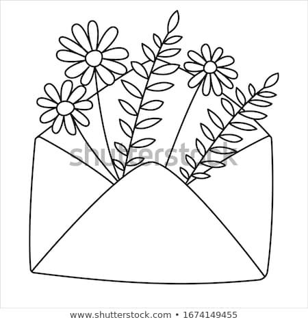болван красочный цветок рисованной графических элемент Сток-фото © pakete
