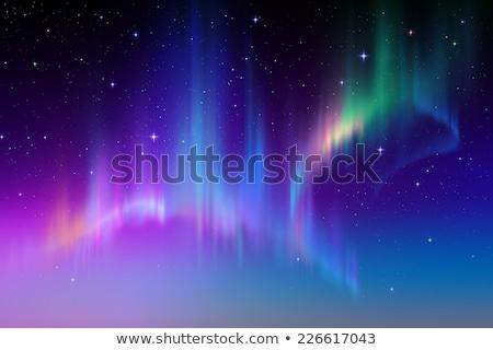 rainbow glowing light northern light polar effect stock photo © pakete