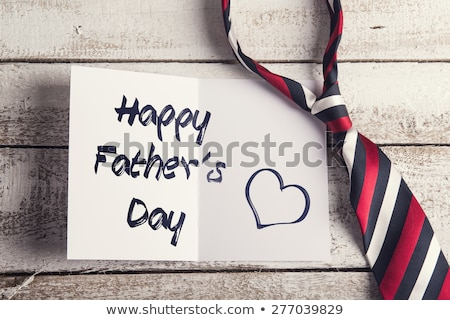 Paintings and happy fathers day message on paper Stock photo © wavebreak_media