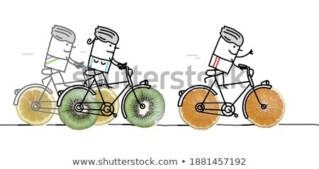 Fruity cyclist. Stock photo © Fisher