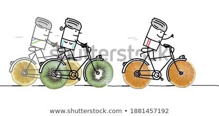 rower · owoce · warzyw · szczegół - zdjęcia stock © fisher