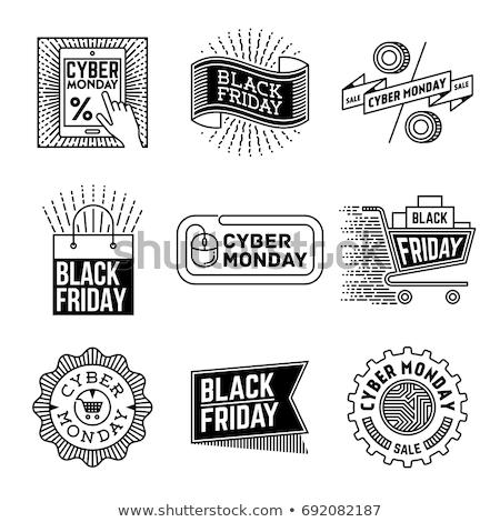 hirdetés · black · friday · eladó · illusztráció · absztrakt · terv - stock fotó © olena