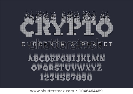 Bitcoin alfabe web para mektup Stok fotoğraf © popaukropa