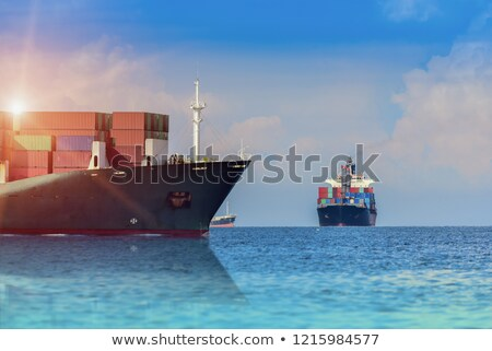 Two boats floating close to the bridge Stock photo © bluering