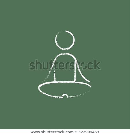 Zöld tábla kézzel rajzolt rugalmasság firka ikonok Stock fotó © tashatuvango