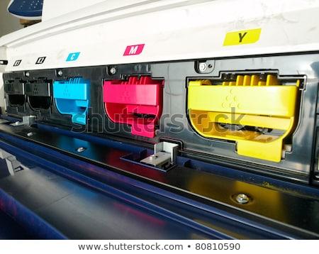 Nyomtató otthon szín fotó számítógép hardver Stock fotó © Vectorminator