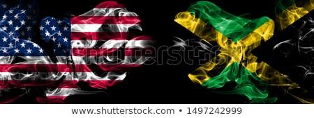 Voetbal vlammen vlag Jamaica zwarte 3d illustration Stockfoto © MikhailMishchenko