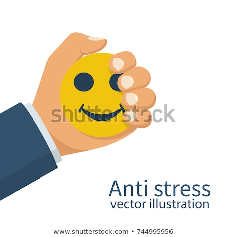 Business man squeezing stress ball Stock photo © IS2