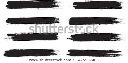 Grunge ecset festett keret izolált textúra Stock fotó © myfh88