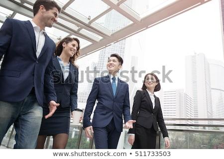 asiático · empresários · café · reunião · escritório · corporativo - foto stock © studioworkstock