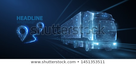 Loading freight truck isolated icon Stock photo © studioworkstock