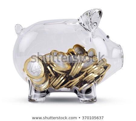 Piggy bank branco negócio segurança vermelho Foto stock © wavebreak_media