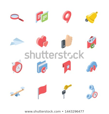 check mail isometric icon isolated on color background stock photo © sidmay