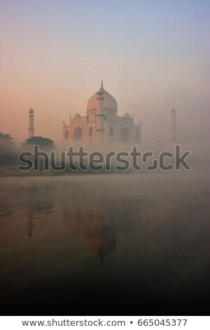 Tac Mahal buğu gökyüzü bulut gizem kimse Stok fotoğraf © IS2