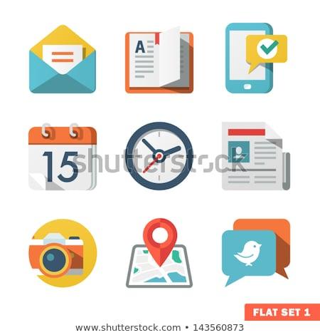Post mail vector icon ontwerp kleur Stockfoto © rizwanali3d