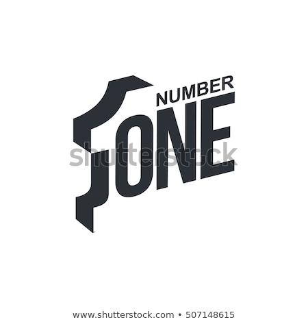 Black and white number one logo template, vector illustrations isolated on white background. stock photo © kyryloff