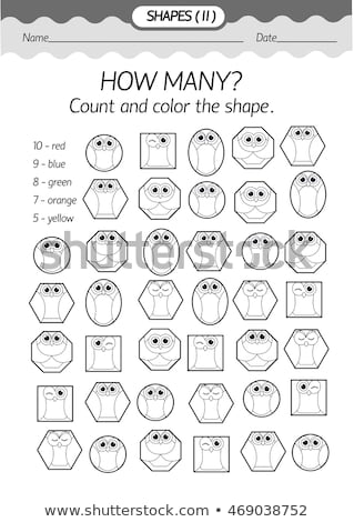educational board shapes owl stock photo © olena