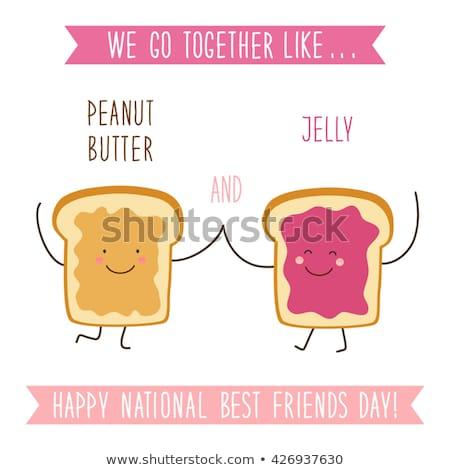 Cartoon Toast Bread Slice With Butter Stock photo © hittoon