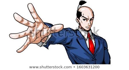 Japoński samurajów zestaw biznesmen sukces działalności Zdjęcia stock © toyotoyo