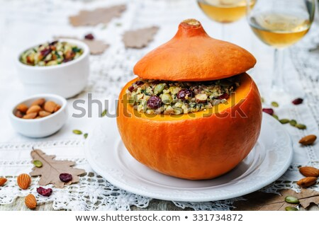 Stuffed pumpkin with millet.selective focus Stock photo © zoryanchik