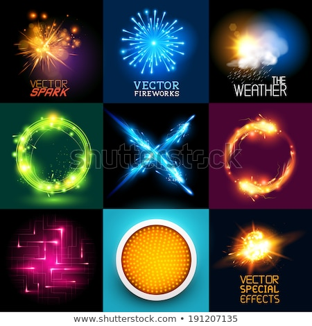 Vector special effects Collection. Set of various light effects and symbols, vector illustration. Fi Stock photo © Designer_things