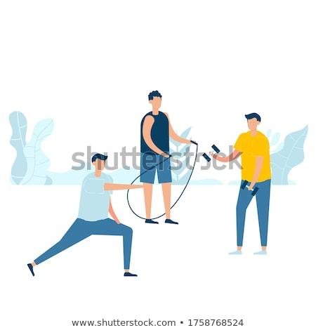 Desenho animado homem ilustração fraco Foto stock © bennerdesign