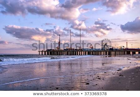 Atlantic City boardwalk by the ocean Stock photo © boggy