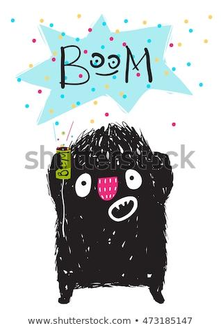 Scared Cartoon Firework Stock photo © cthoman