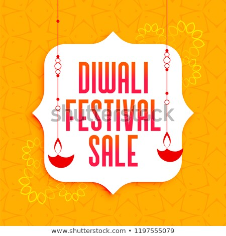 awesome diwali festival sale banner with hanging diya lamps Stock photo © SArts