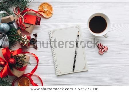 Navidad para hacer la lista verde rústico abeto Foto stock © Illia