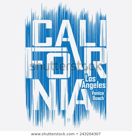 Photo stock: Californie · sport · vêtements · tshirt · typographie · design