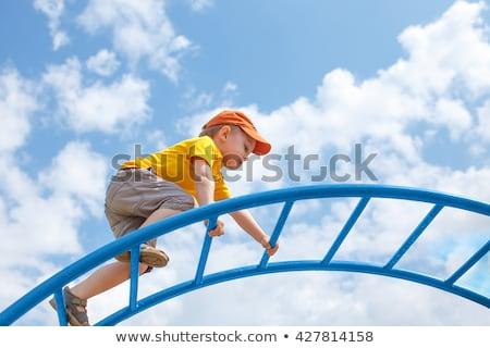 幸せ 子 少年 遊び場 先頭 ストックフォト © Lopolo