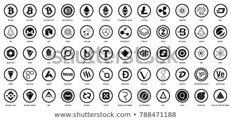 Exchange - Kucoin. The Crypto Coins or Cryptocurrency Logo. Stock photo © tashatuvango