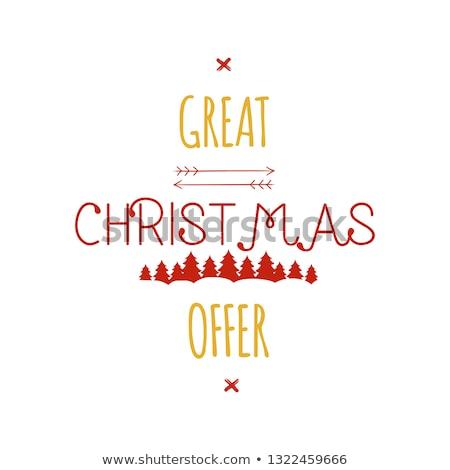 Natal oferecer tipografia venda Foto stock © JeksonGraphics