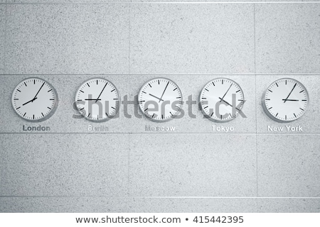 wall clocks showing time in different capitals of the world Stock photo © galitskaya