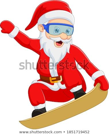 kerstman · lezing · lijst · illustratie · christmas - stockfoto © robuart