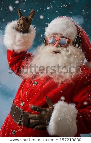 Natale · pupazzo · di · neve · indossare · Hat · cute - foto d'archivio © robuart